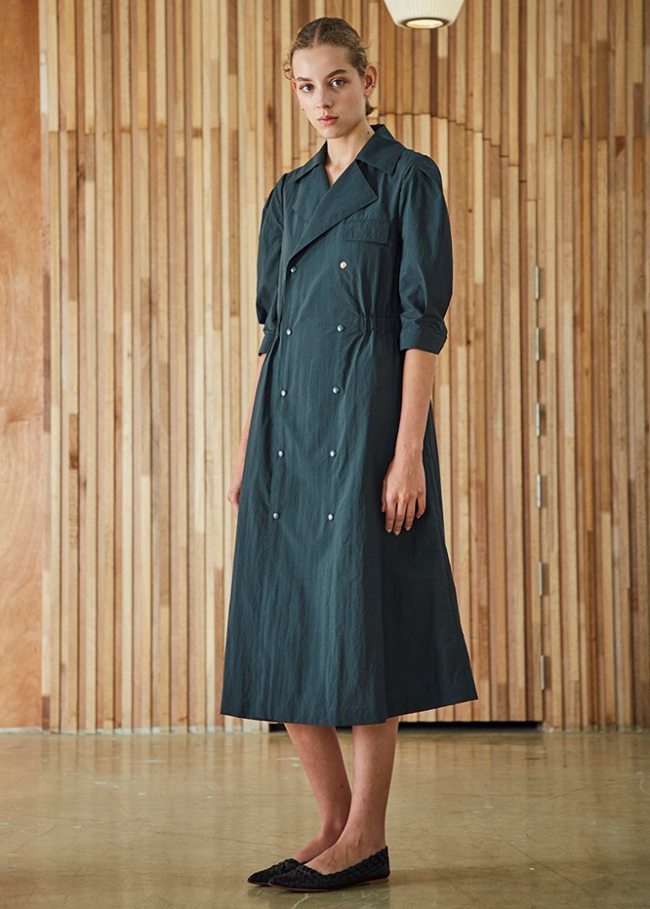 TRENCH COAT DRESS_GREEN