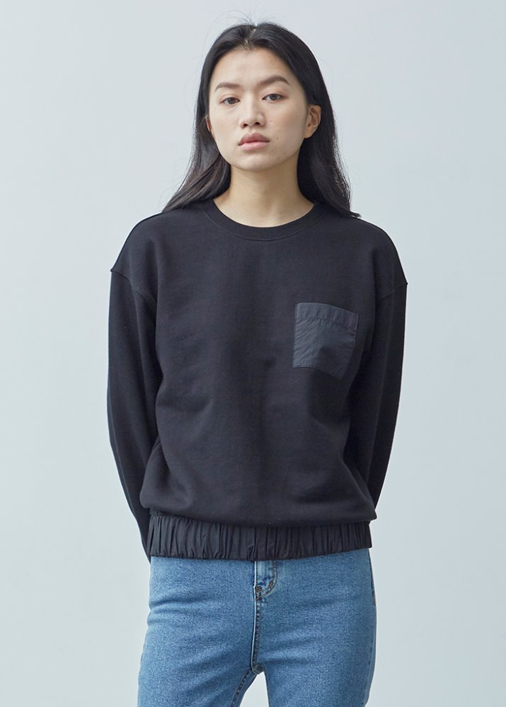POCKET SWEATSHIRT_BLACK