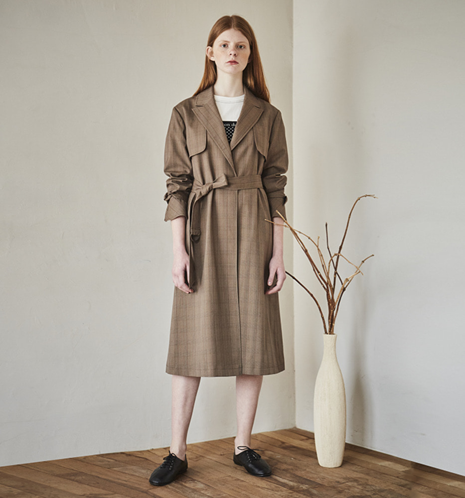 VINTAGE MOOD TRENCH COAT_Brown