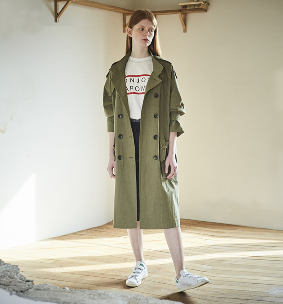 [Ready for SPRING]BOTTON CHIC TRENCH COAT_Khaki