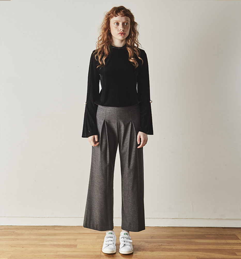 SIMPLE CULOTTES PANTS_Grey