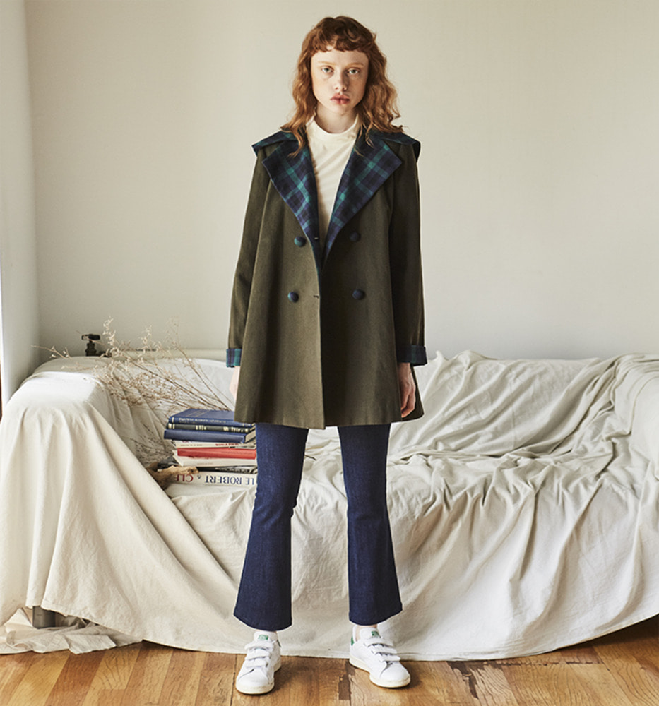 CHECK POINT TRENCH COAT_Green