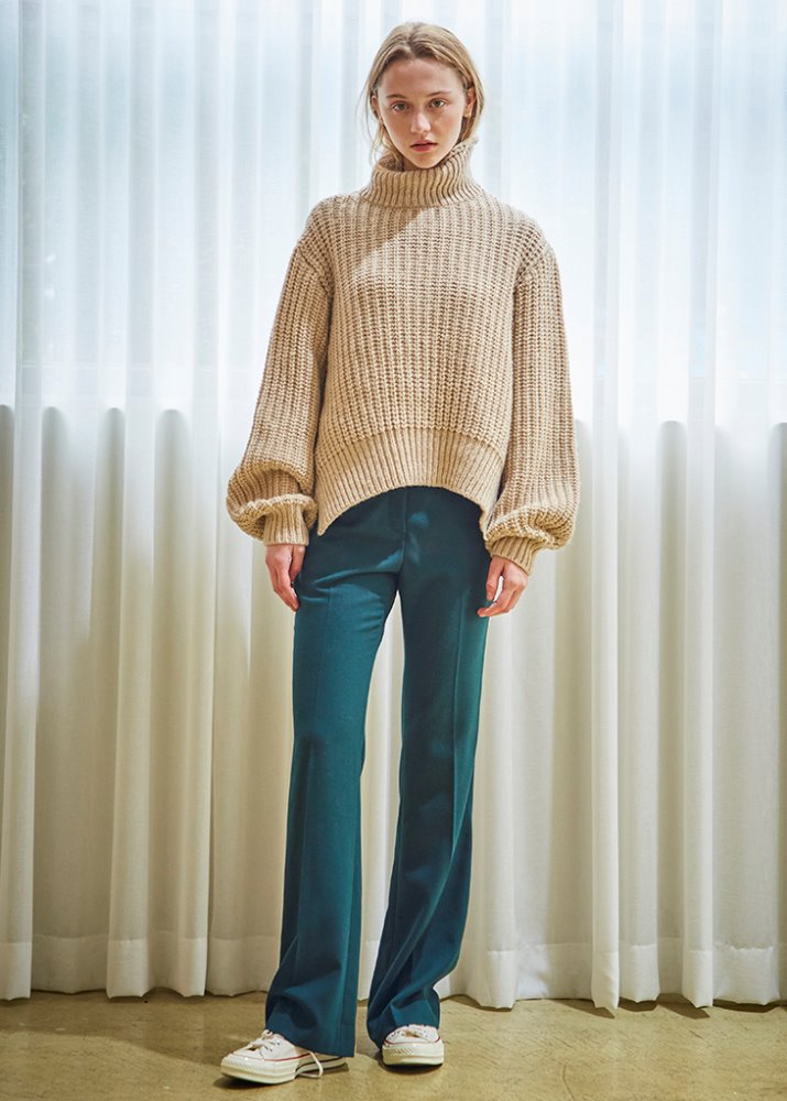 BOOTSCUT LONG SLACKS_GREEN