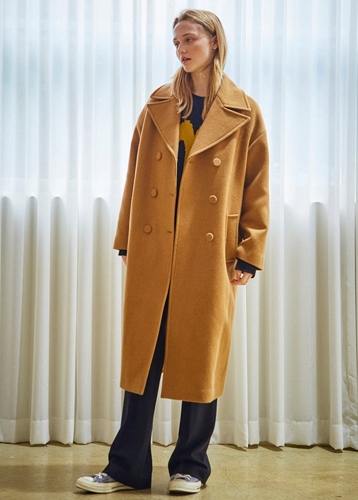 OVERSIZED WOOL DOUBLE COAT_CAMEL