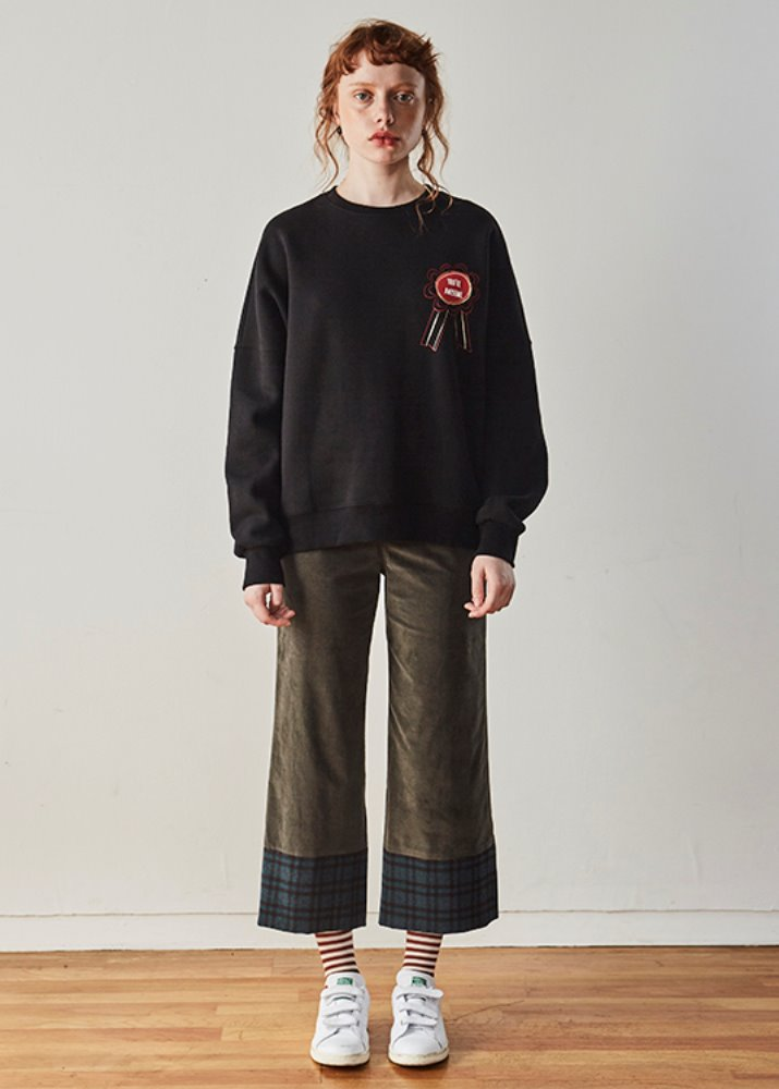 CHECK POINT CORDUROY PANTS_KHAKI