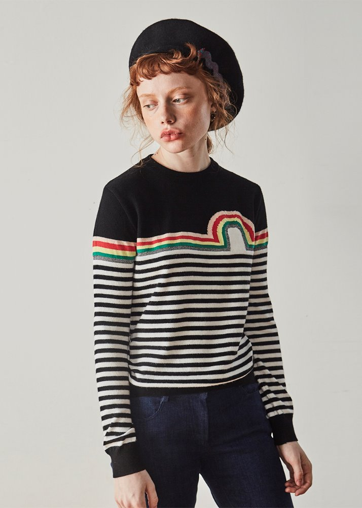 RAINBOW STRIPE KNIT