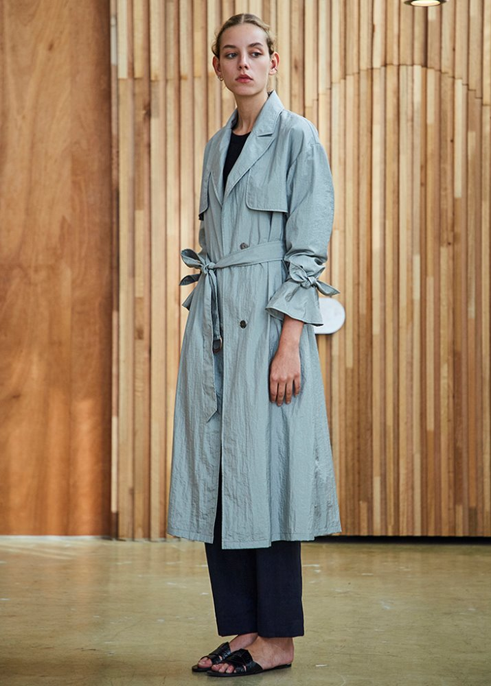 LIGHT TRENCH COAT_GRAY