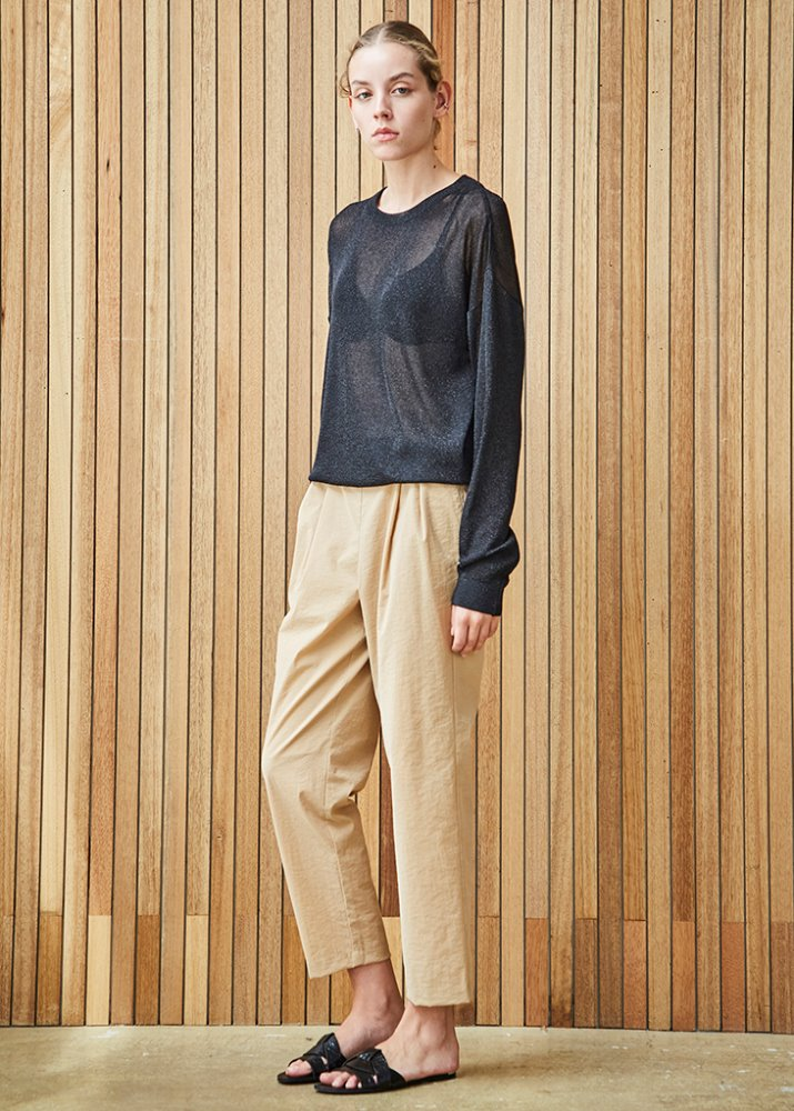 BASIC SUMMER CROP PANT_BEIGE