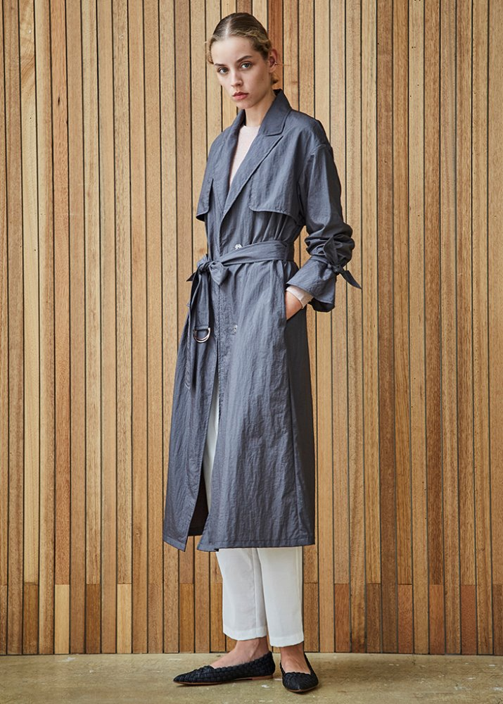 LIGHT TRENCH COAT_CHARCOAL