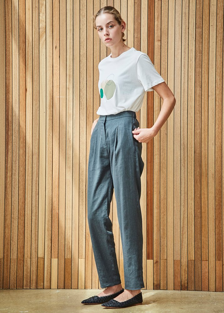 BASIC SUMMER SLACKS_GREEN