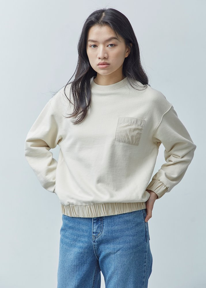 POCKET SWEATSHIRT_BEIGE