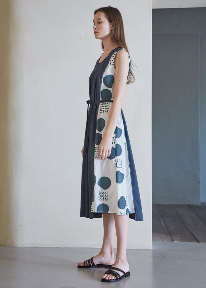 étoffe DOT PATTERN DRESS_GREEN