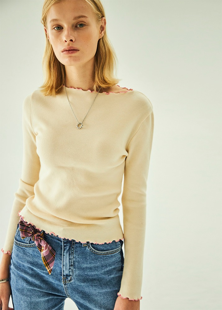 SEMI BOATNECK KNIT_IVORY