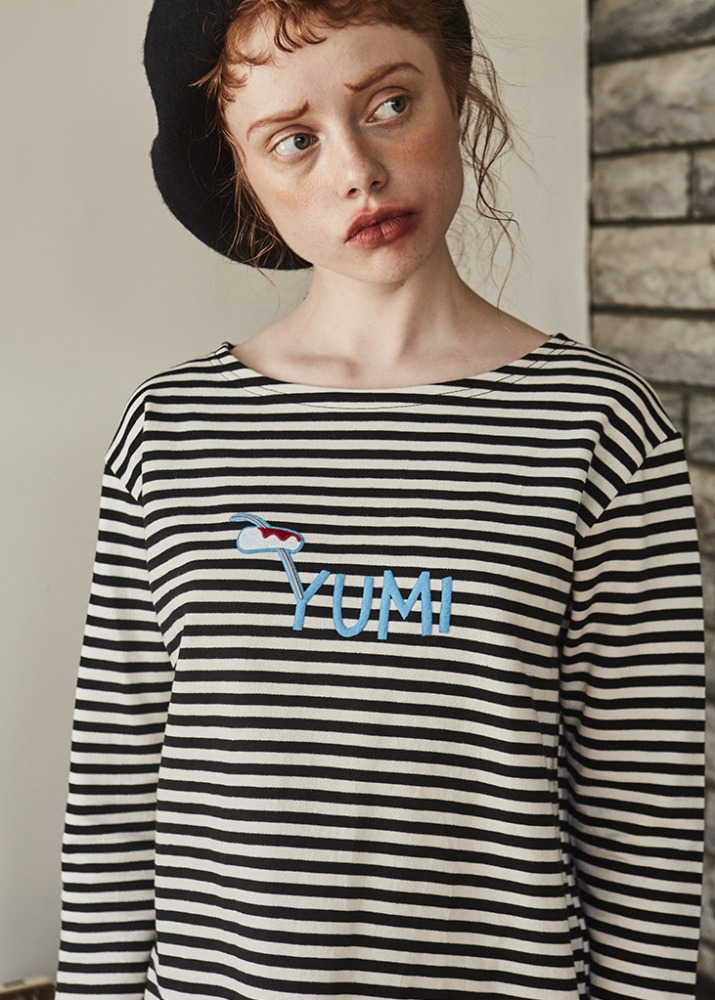 LETTERING STRIPE TOP