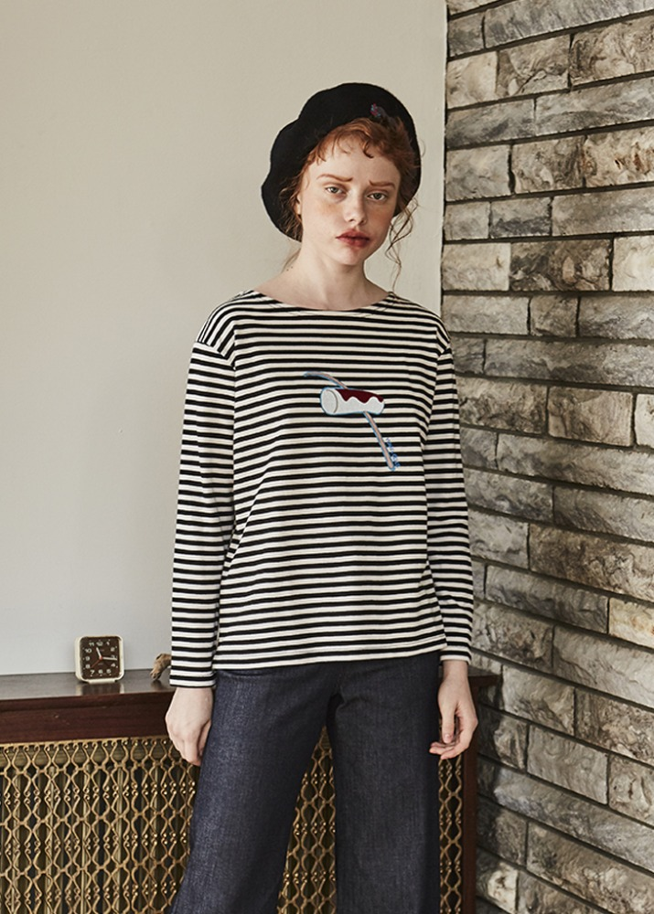 MOCHI POINT STRIPE TOP
